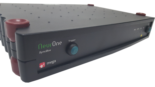 NeurOne Syncbox closeup