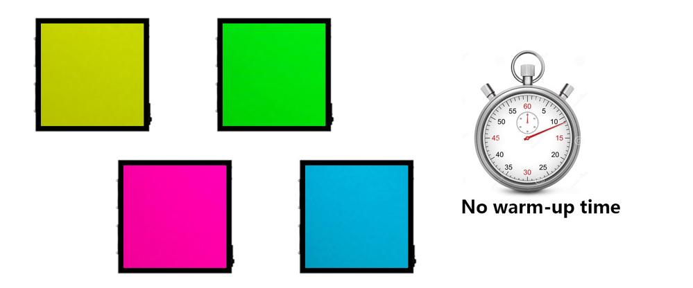 LEDCube - Fast change between illuminants and no warm up time